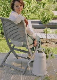 Голландская садовая лейка-кофейник 12 литров для полива цветов Lungo Light Grey Xala фото