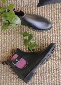 Модные резиновые ботинки-челси Black Delia французского бренда AJS-Blackfox фото