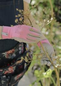 Перчатки тонкие флористические для цветов Pink Colors AJS-Blackfox фото