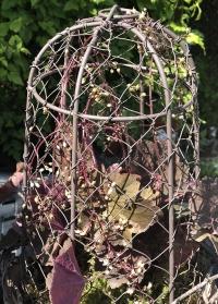 Декоративный металлический колпак с цветочным горшком из терракоты AT36 Esschert Design фото