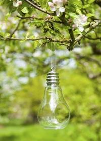 Дизайнерская стеклянная кормушка для птиц Лампочка Eureca! by ChapelWood фото