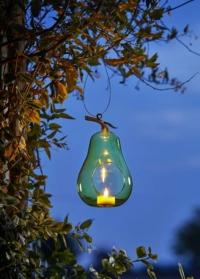 Декоративная стеклянная кормушка для птиц подсвечник груша Pear by ChapelWood фото