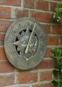 Настенные часы и термометр Sun & Moon Smart Garden фото