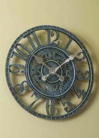 Часы настенные уличные скелетоны Newby Verdigris Smart Garden фото