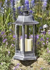 Фонарь подсвечник со светодиодной свечой Nordic Silver Smart Garden фото