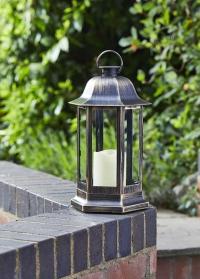 Фонарь-подсвечник со светодиодной свечой Nordic Gold Smart Garden фото