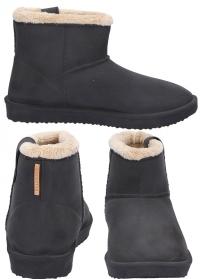 Ботинки угги зимние резиновые Ankle Boots Cheyenne Anthracite - французская обувь AJS Blackfox фото.jpg