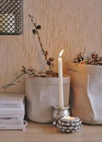 Эко мешок декоративный серый для интерьера 20 см Caia Grey от Lene Bjerre фото