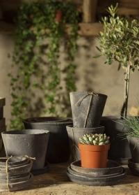 Набор из трех терракотовых горшков для цветов AT46 Esschert Design фото