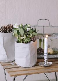 Винтажный металлический подсвечник в скандинавском стиле Dana Silver Lene Bjerre фото