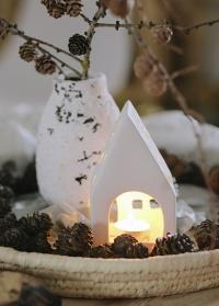 Керамический подсвечник для чайной свечи Домик Delia Lene Bjerre фото