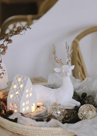 Новогодний сканди декор олень Serafina для украшения дома от Lene Bjerre (Дания) фото