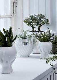 Дизайнерское кашпо для цветов Руки Hanya White от Lene Bjerre фото