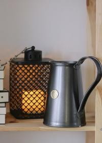 Кувшин для букетов и воды металлический черный Classic Graphite 9222-GRA Haws фото