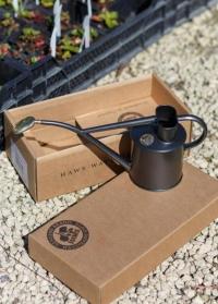 Металлическая лейка для цветов черная Rowley Ripple Graphite Haws фото