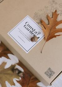 Подарочная крафт коробка большая Consta Garden картинка