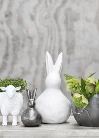 Пасхальный Кролик керамический Vinnia Rabbit Pewter Lene Bjerre фото