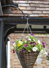 Кронштейн для цветочного кашпо полукруглый металлический 28 см Round Smart Garden фото