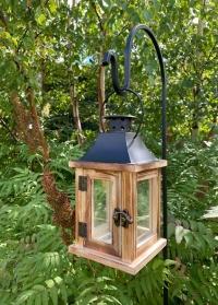 Кронштейн-держатель садовый в грунт для цветочных кашпо, фонарей и кормушек Smart Garden фото