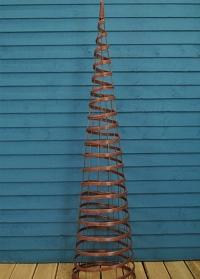 Опора для вьющихся растений  из металла и искусственного ротанга Faux Rattan Obelisk Chestnut Smart Garden фото