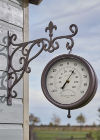 Часы на кронштейне уличные Marylebone Station Smart Garden фото