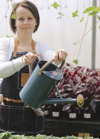 Лейка для полива растений из эмалированного металла Blue от Smart Garden фото