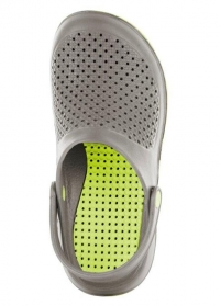 Летние сабо из эва ультралегкие Grey & Lime Sun от французского бренда AJS-Blackfox фото