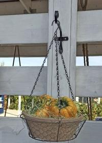 Кронштейн декоративный прямой 25 см для подвесных кашпо Forge Square Smart Garden фото