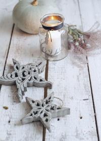 Новогоднее украшение звезда объемная в скандинавском стиле Lene Bjerre фото
