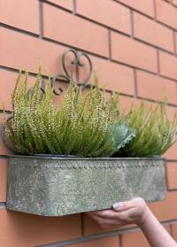 Настенный держатель для цветочных горшков AM100 Aged Metal Esschert Design фото