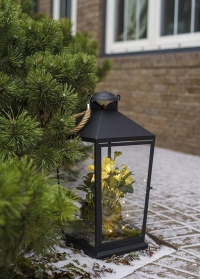 Металлический подсвечник в виде фонаря напольный WL78 Esschert Design фото