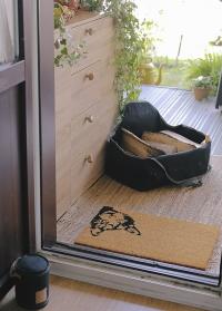 Коврик из кокосового волокна придверный Peek-a-boo! Cat RB239 от Esschert Design фото