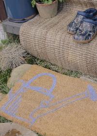 Коврик придверный из кокосового волокна на резиновой основе Лейка RB197 Esschert Design фото