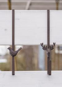 Кронштейн накидной на дверь для рождественского венка Олень LH281 Esschert Design фото