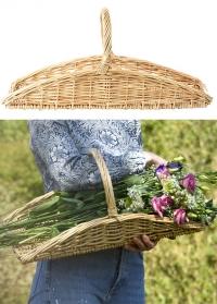 Корзина плетеная плоская для сбора цветов и трав FH001 от Esschert Design фото