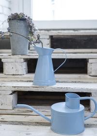 Кувшин эмалированный для цветов голубой Blue Shades EL100 от Esschert Design фото