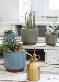 Керамическое кашпо для комнатных растений Malibu GreenGIG/MALMGN от Burgon & Ball фото