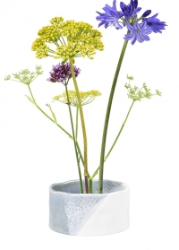 Стильная японская ваза для цветов с кензаном для флористики Fuji Burgon & Ball фото