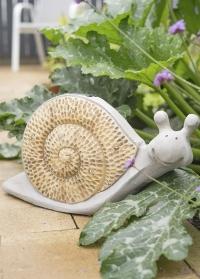 Садовая фигурка - светильник на солнечной батарее Улитка Smart Garden фото