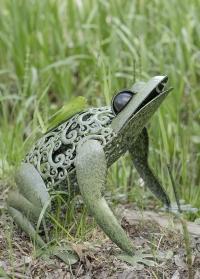 Декоративная садовая фигурка-светильник на солнечной батарее Лягушка от Smart Garden фото
