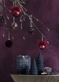 Стеклянный новогодний подсвечник-стакан Frostine Snow Lene Bjerre фото