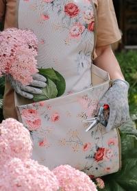 Перчатки с покрытием из латекса для сада и огорода Eglantine Grey AJS-Blackfox фото