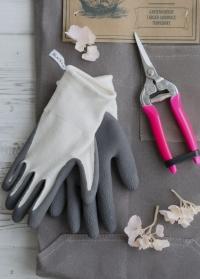 Садовые перчатки из бамбука с покрытием из латекса для обрезки растений Bamboo Grey AJS-Blackfox фото