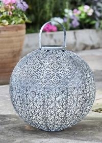 Декоративный круглый фонарь на солнечной батарее Jumbo Damasque для дома и дачи Smart Garden фото