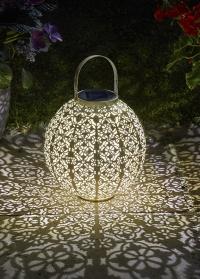Декоративный садовый фонарь на солнечной батарее Damasque Cream для загородного участка Smart Garden фото