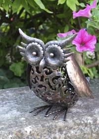 Садовая фигурка со светодиодной подсветкой на солнечной батарее Сова Owl Smart Garden фото