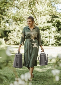 Садовая лейка-кофейник 12 литров для полива цветов Lungo Slate Grey Xala фото