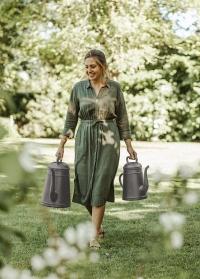 Садовая лейка-кофейник 8 литров для полива цветов Lungo Slate Grey Xala фото