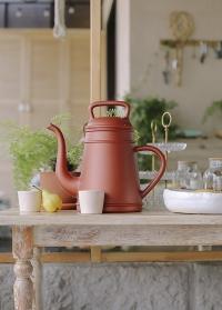 Садовая лейка-кофейник 8 литров для полива цветов Lungo Copper голландского бренда Xala фото