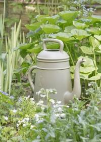 Садовая лейка-кофейник 8 литров для полива цветов Lungo Olive Grey голландского бренда Xala фото